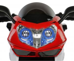 Motocicleta electrica cu 3 roti Premier HP2, 6V, 2 motoare, MP3, rosu [5]