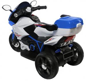 Motocicleta electrica cu 3 roti Premier HP2, 6V, 2 motoare, MP3, albastru2