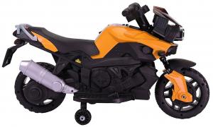 MMotocicleta electrica cu 2 roti Premier Rider, 6V, muzica, roti ajutatoare9