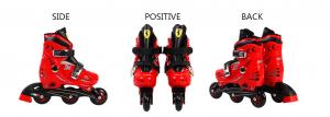 Set role reglabile Ferrari cu casca, genunchiere, cotiere5