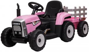 Tractor electric cu remorca Premier Farm, 12V, roti cauciuc EVA0