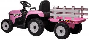 Tractor electric cu remorca Premier Farm, 12V, roti cauciuc EVA6