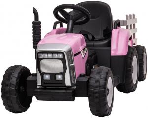 Tractor electric cu remorca Premier Farm, 12V, roti cauciuc EVA1