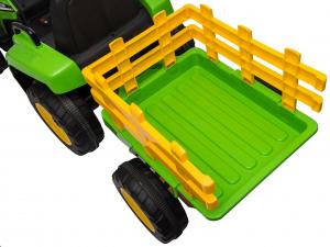 Tractor electric cu remorca Premier Farm, 12V, roti cauciuc EVA36