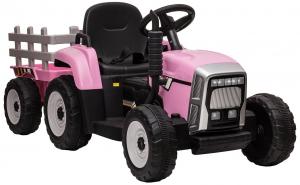 Tractor electric cu remorca Premier Farm, 12V, roti cauciuc EVA17