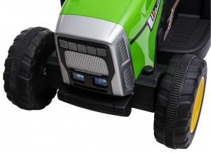 Tractor electric cu remorca Premier Farm, 12V, roti cauciuc EVA15