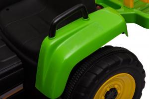 Tractor electric cu remorca Premier Farm, 12V, roti cauciuc EVA27