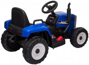 Tractor electric cu remorca Premier Farm, 12V, roti cauciuc EVA, albastru [20]