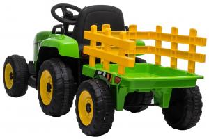 Tractor electric cu remorca Premier Farm, 12V, roti cauciuc EVA7