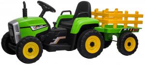 Tractor electric cu remorca Premier Farm, 12V, roti cauciuc EVA5