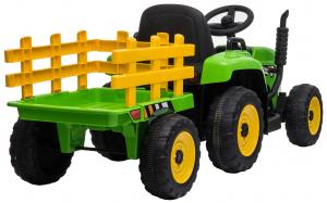 Tractor electric cu remorca Premier Farm, 12V, roti cauciuc EVA9