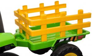 Tractor electric cu remorca Premier Farm, 12V, roti cauciuc EVA33