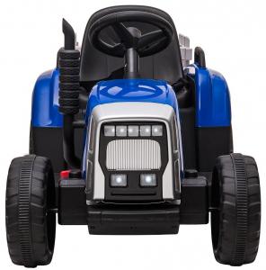 Tractor electric cu remorca Premier Farm, 12V, roti cauciuc EVA, albastru [2]