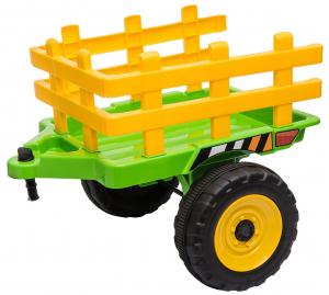 Tractor electric cu remorca Premier Farm, 12V, roti cauciuc EVA40