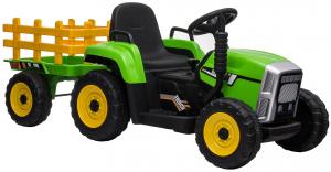 Tractor electric cu remorca Premier Farm, 12V, roti cauciuc EVA12
