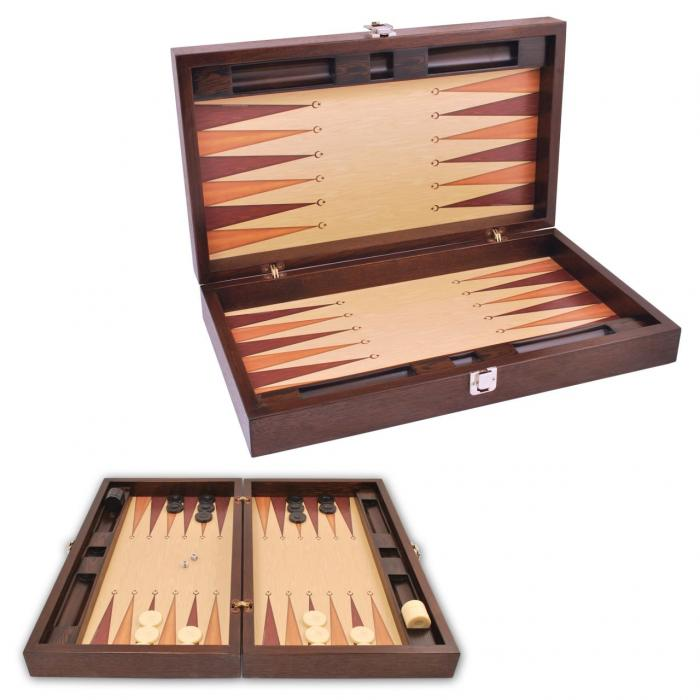 Joc table/backgammon din lemn Premium Gold 52 x 60 cm 0