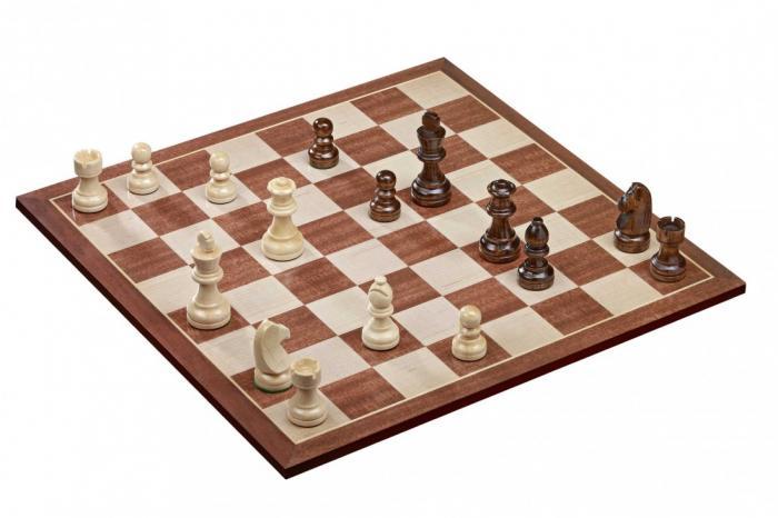 Set sah tabla si piese din lemn, 45mm imagine