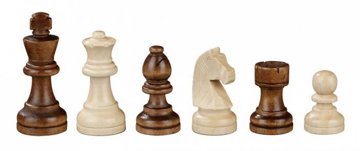 Set sah tabla si piese din lemn, 45mm 3