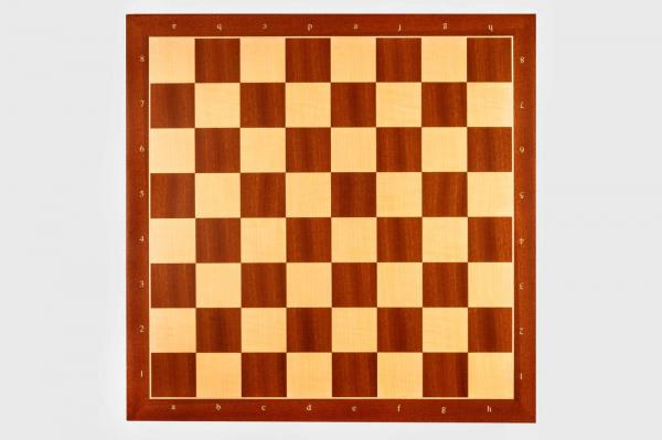 Tabla de sah lemn mahon, 35 x 35 cm, patrat 40 mm - Rechapados