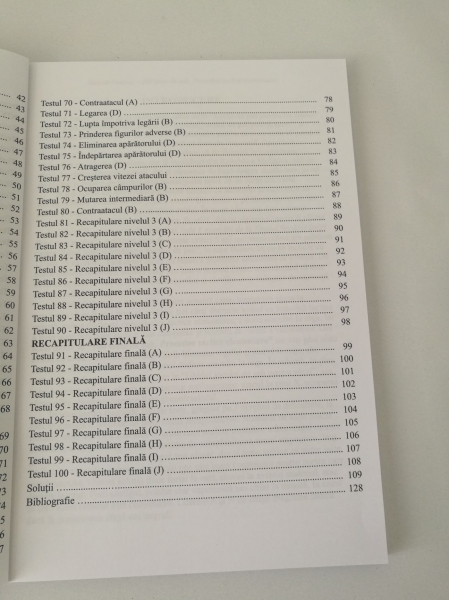 Carte : 100 teste de sah. Procedee Tactice Elementare / M. Ceteras 3