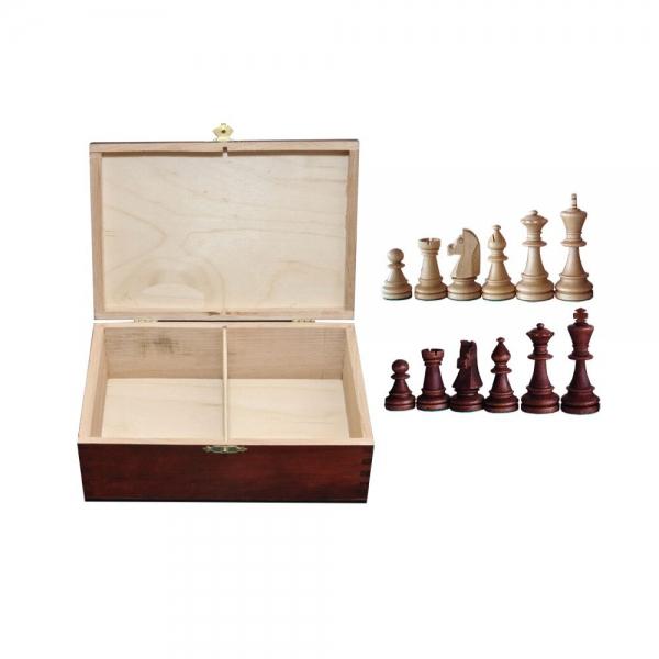 Piese lemn Staunton 6 in cutie de lemn 0