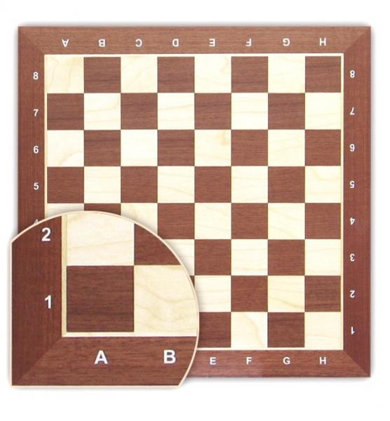 Tabla de sah - lemn mahon 58 x 58 mm 1
