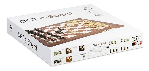 Tabla de sah electronica DGT (USB) walnut/piese Classic 2