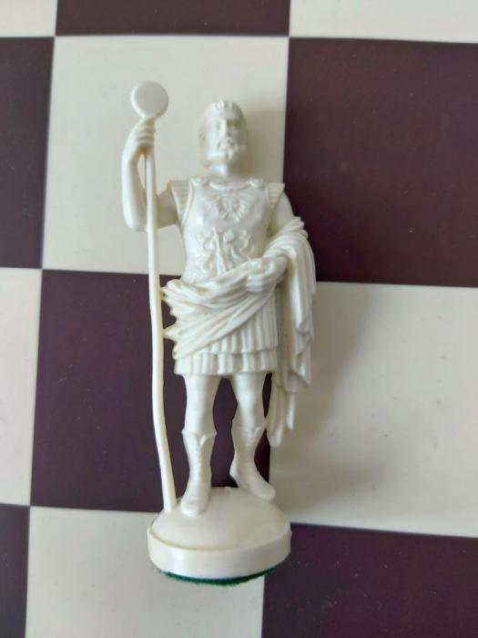 Rege alb rezerva  pentru setul tematic din plastic Roma Antica 0