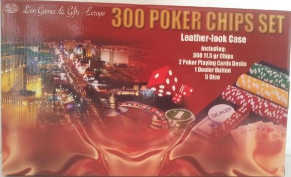 Set poker cu 300 chips-uri si servieta din piele ecologica 1