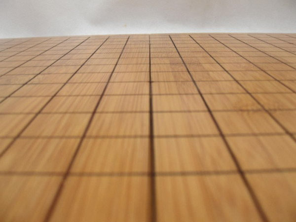 Tabla Joc Go pliabila, lemn bambus 2 cm, cu linii gravate 1