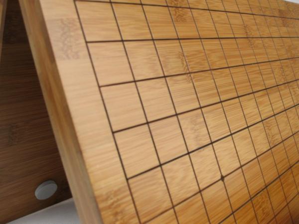 Tabla Joc Go pliabila, lemn bambus 2 cm, cu linii gravate