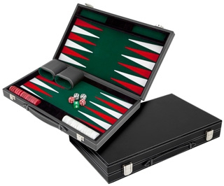 Set joc table/Backgammon in stil Casino - Compact- 38x47 cm - Verde 1