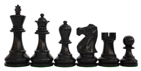 Piese de sah din lemn Staunton 6 - Executive EQ, Black 1