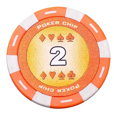 Jeton Poker Chip 11.5g - Culoare Portocaliu - inscriptionat (2) 1