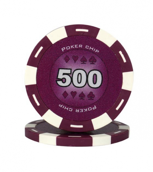 Jeton Poker Chip 11.5g - Culoare Violet - inscriptionat (500) 0