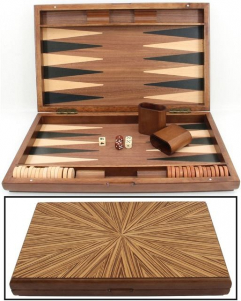 Set joc table / backgammon - lemn de arbore de cauciuc Mykonos - 49x60 cm 3