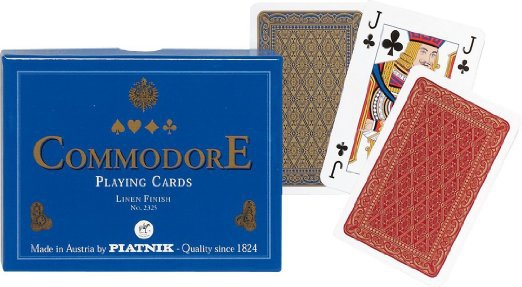 Carti de joc Commodore Blue, double deck 0