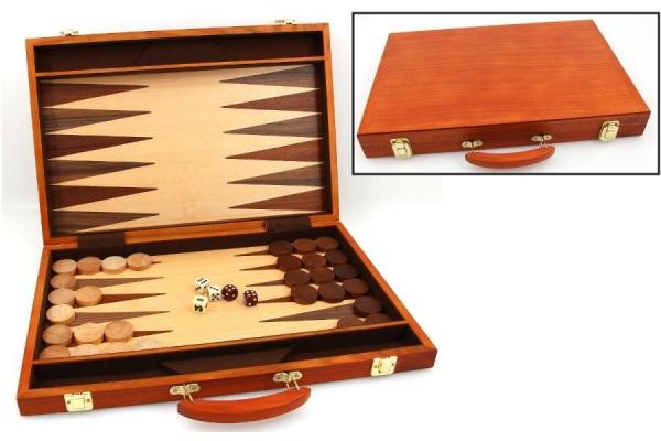 Set joc table / backgammon - frasin - 45x59 cm 0