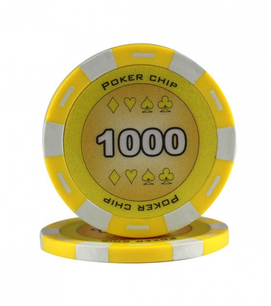 Jeton Poker Chip 11.5g - Culoare Galben - inscriptionat (1000) 0