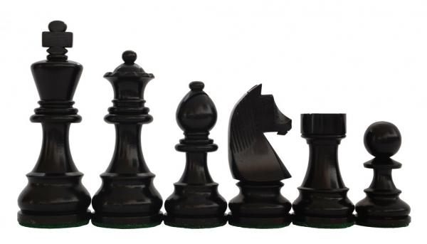Piese sah lemn German Staunton 4 Clasic, EQ, Black [0]