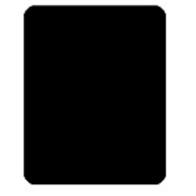 Cut card din plastic - negru 0