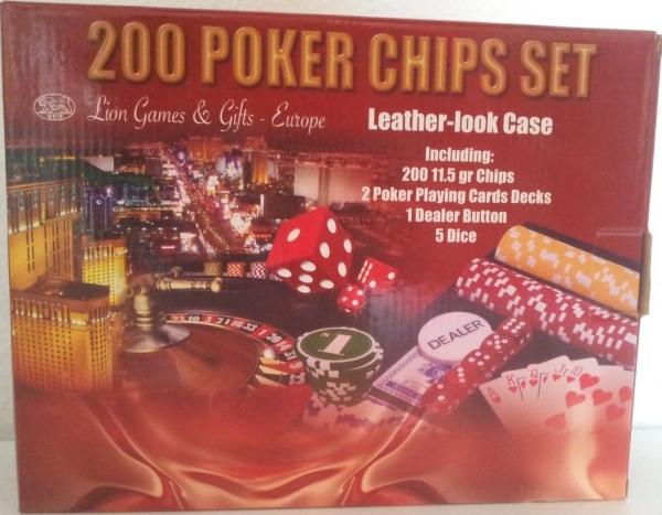 Set poker cu 200 chips-uri si servieta din piele ecologica 1