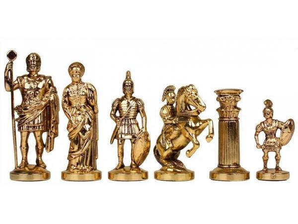 Piese sah din metal - Grecii si Romanii - Mare 1