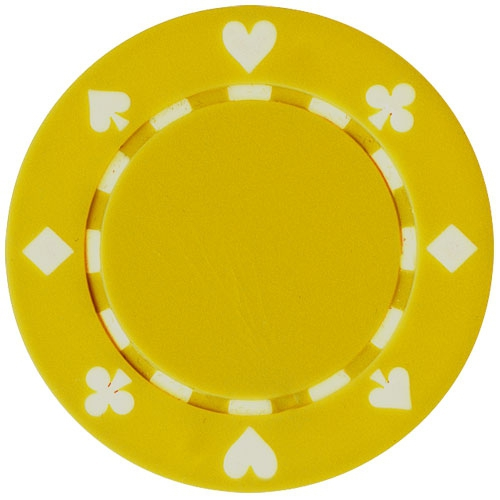 Jeton poker Suit 11.5g - Culoare Galben 0