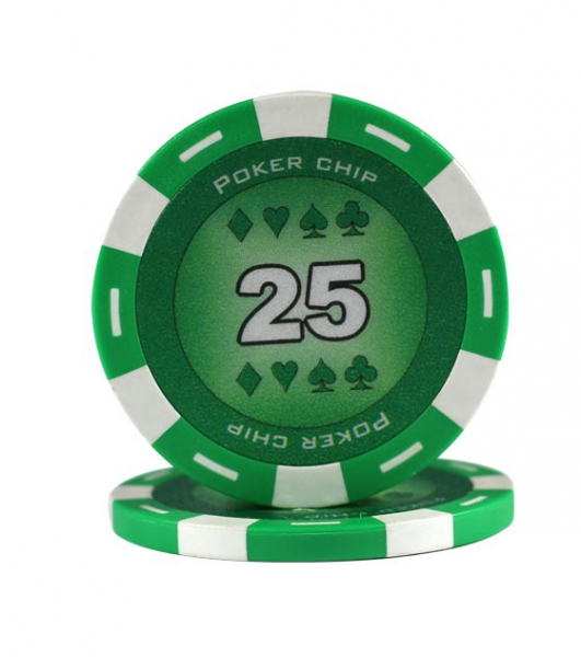 Jeton Poker Chip 11.5g - Culoare Verde - inscriptionat (25) 0