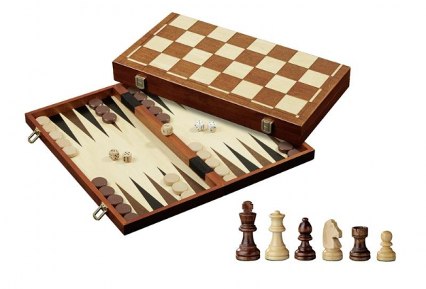 Set de sah si table/backgammon - 45mm, kh 78mm, 4