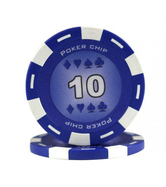 Jeton Poker Chip 11.5g - Culoare Albastru - inscriptionat (10) 0