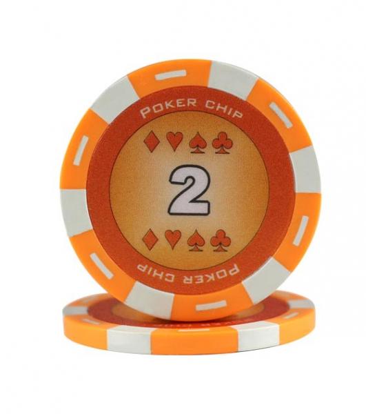 Jeton Poker Chip 11.5g - Culoare Portocaliu - inscriptionat (2) 0