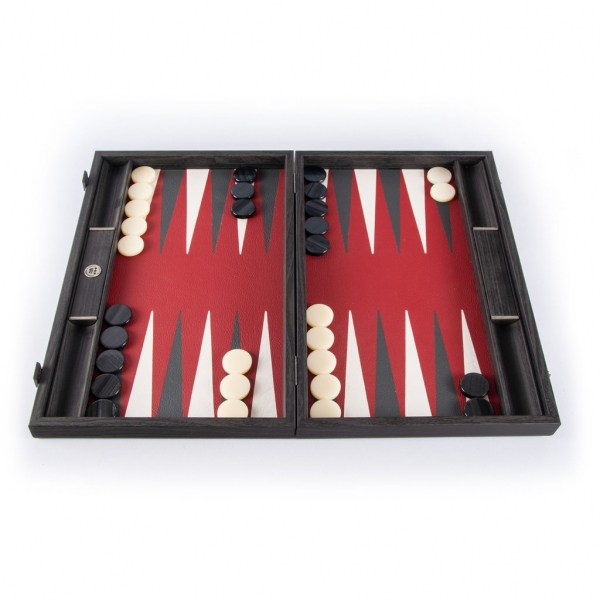 Set joc table backgammon piele model Burgundy Red 48 X 60 CM