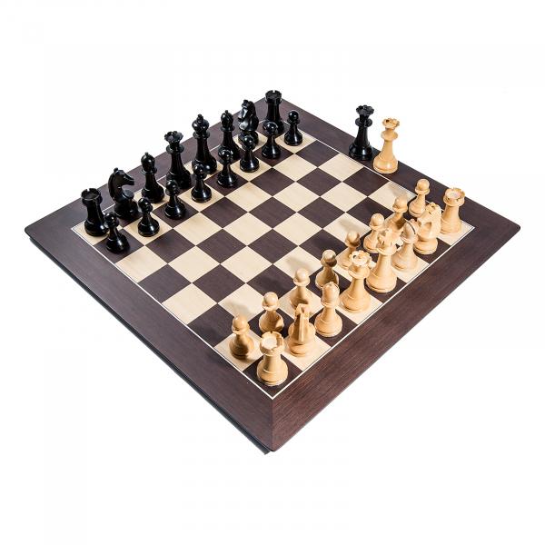 Piese sah lemn Staunton 6 World Chess Design cu Tabla Wenge Barcelona 1